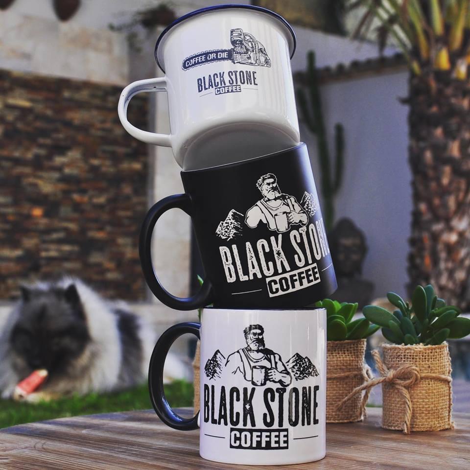 Tazas Black Stone Coffee