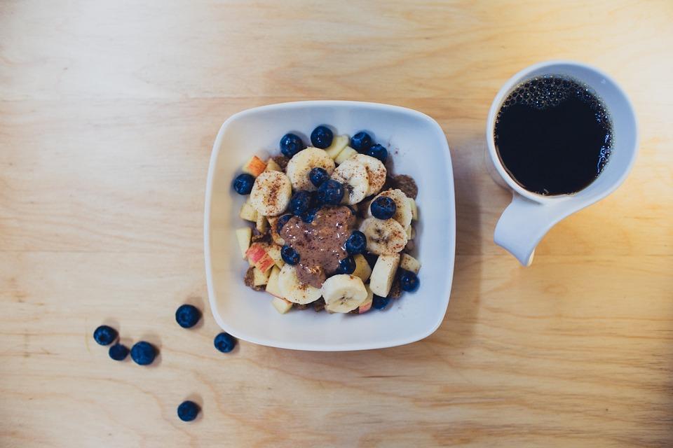 Desayuno fitness con cafe