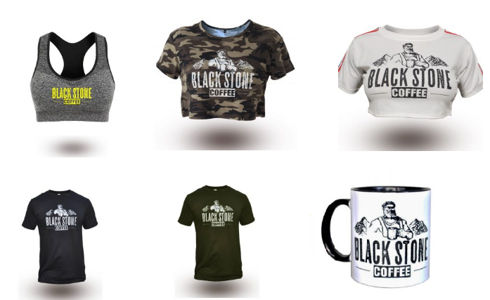 Camisetas Black Stone coffee